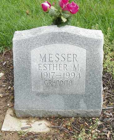 MESSER, ESTHER M. - Shelby County, Ohio | ESTHER M. MESSER - Ohio Gravestone Photos