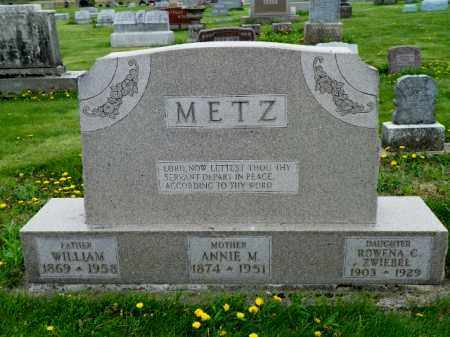 METZ, ANNIE M. - Shelby County, Ohio | ANNIE M. METZ - Ohio Gravestone Photos