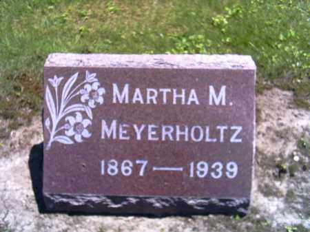 MEYERHOLTZ, MARTHA M. - Shelby County, Ohio | MARTHA M. MEYERHOLTZ - Ohio Gravestone Photos