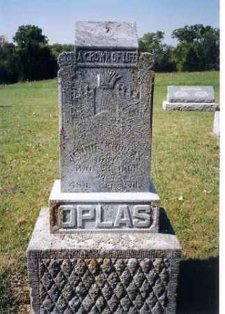 OPLAS, JENNIE - Shelby County, Ohio | JENNIE OPLAS - Ohio Gravestone Photos