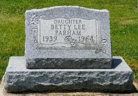 PARHAM, BETTY LEE - Shelby County, Ohio | BETTY LEE PARHAM - Ohio Gravestone Photos