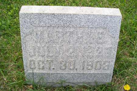 PATTON, MARTHA - Shelby County, Ohio | MARTHA PATTON - Ohio Gravestone Photos