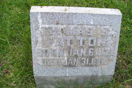 PATTON, THOMAS S. - Shelby County, Ohio | THOMAS S. PATTON - Ohio Gravestone Photos