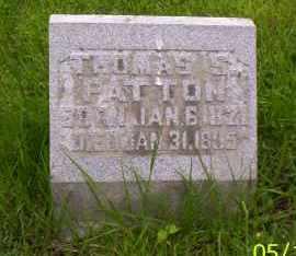 PATTON, THOMAS S. - Shelby County, Ohio | THOMAS S. PATTON - Ohio Gravestone Photos