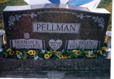 PELLMAN, L ELLEN - Shelby County, Ohio   L ELLEN PELLMAN - Ohio Gravestone Photos