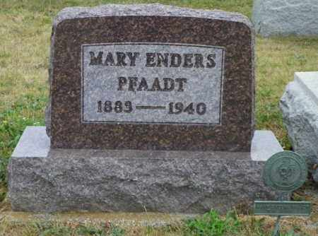 ENDERS PFAADT, MARY - Shelby County, Ohio | MARY ENDERS PFAADT - Ohio Gravestone Photos