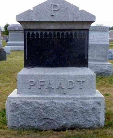 PFAADT, WILLIAM - Shelby County, Ohio | WILLIAM PFAADT - Ohio Gravestone Photos