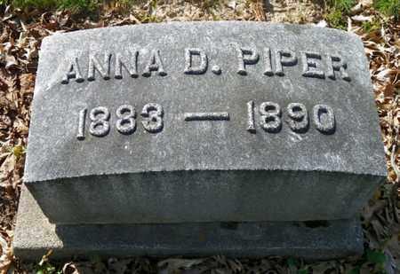 PIPER, ANNA D. - Shelby County, Ohio | ANNA D. PIPER - Ohio Gravestone Photos