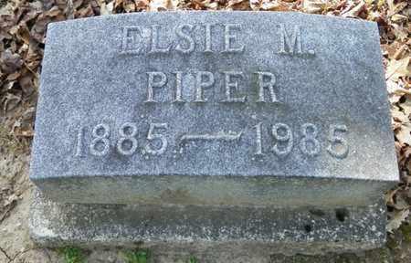 PIPER, ELSIE M. - Shelby County, Ohio   ELSIE M. PIPER - Ohio Gravestone Photos