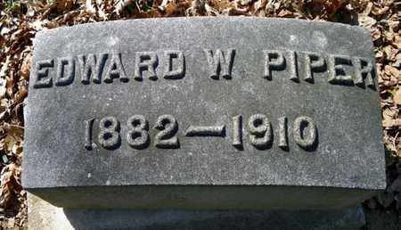 PIPER, EDWARD W. - Shelby County, Ohio | EDWARD W. PIPER - Ohio Gravestone Photos