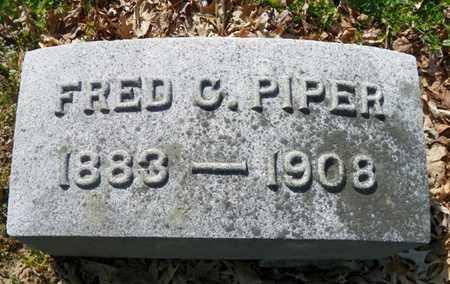 PIPER, FRED C. - Shelby County, Ohio | FRED C. PIPER - Ohio Gravestone Photos