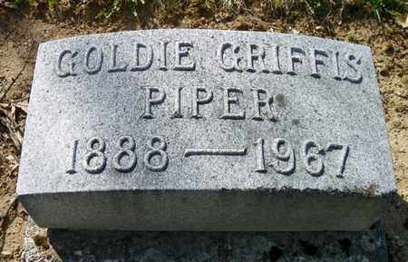 GRIFFIS PIPER, GOLDIE - Shelby County, Ohio | GOLDIE GRIFFIS PIPER - Ohio Gravestone Photos