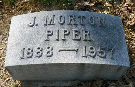 PIPER, J. MORTON - Shelby County, Ohio | J. MORTON PIPER - Ohio Gravestone Photos