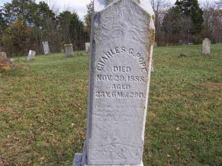 POPE, CHARLES G - Shelby County, Ohio | CHARLES G POPE - Ohio Gravestone Photos