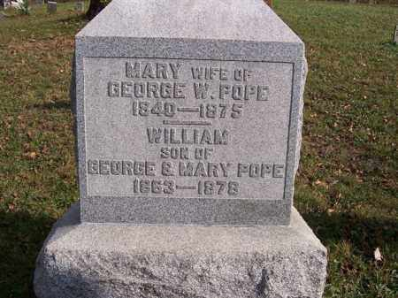 POPE, WILLIAM - Shelby County, Ohio | WILLIAM POPE - Ohio Gravestone Photos