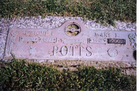 POTTS, DWIGHT E - Shelby County, Ohio | DWIGHT E POTTS - Ohio Gravestone Photos
