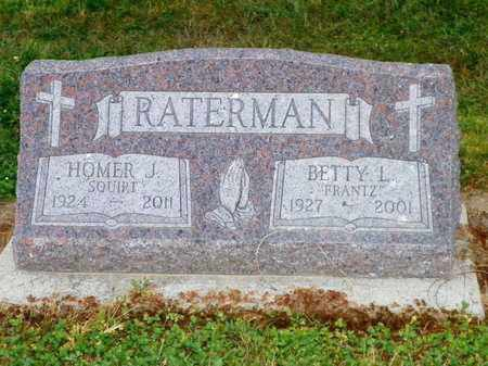 FRANTZ RATERMAN, BETTY L. - Shelby County, Ohio | BETTY L. FRANTZ RATERMAN - Ohio Gravestone Photos