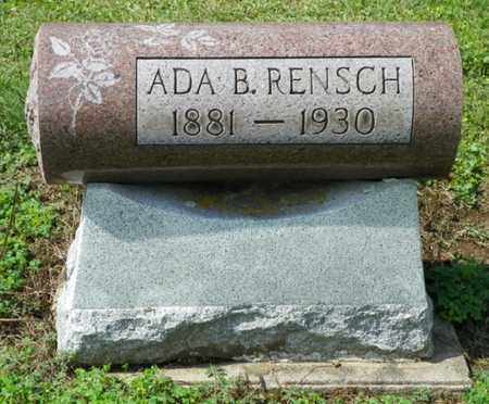 RENSCH, ADA B. - Shelby County, Ohio | ADA B. RENSCH - Ohio Gravestone Photos