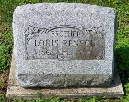 RENSCH, LOUIS - Shelby County, Ohio | LOUIS RENSCH - Ohio Gravestone Photos
