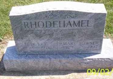 RHODEHAMEL, MARY BOWSER - Shelby County, Ohio | MARY BOWSER RHODEHAMEL - Ohio Gravestone Photos