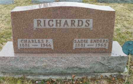 ENDERS RICHARDS, SADIE - Shelby County, Ohio | SADIE ENDERS RICHARDS - Ohio Gravestone Photos