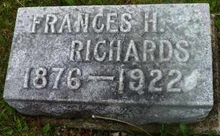 RICHARDS, FRANCES H. - Shelby County, Ohio | FRANCES H. RICHARDS - Ohio Gravestone Photos