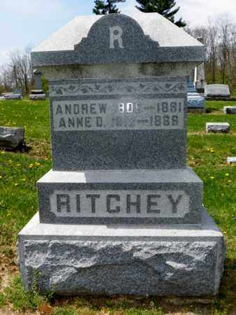 RITCHEY, ANNE D. - Shelby County, Ohio | ANNE D. RITCHEY - Ohio Gravestone Photos