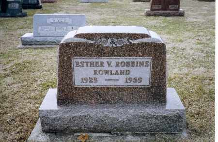 ROBBINS ROWLAND, ESTHER V. - Shelby County, Ohio | ESTHER V. ROBBINS ROWLAND - Ohio Gravestone Photos