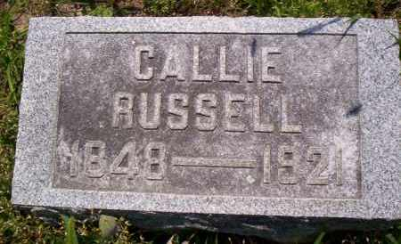 RUSSELL, CALLIE - Shelby County, Ohio | CALLIE RUSSELL - Ohio Gravestone Photos