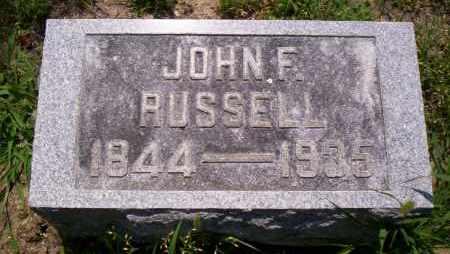 RUSSELL, JOHN F. - Shelby County, Ohio | JOHN F. RUSSELL - Ohio Gravestone Photos