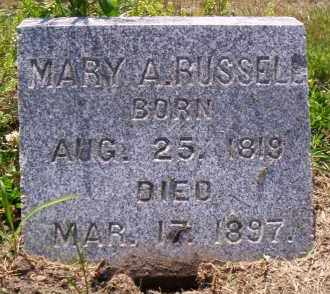 RUSSELL, MARY A. - Shelby County, Ohio | MARY A. RUSSELL - Ohio Gravestone Photos