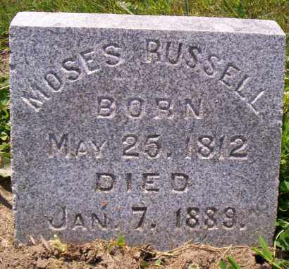 RUSSELL, MOSES - Shelby County, Ohio | MOSES RUSSELL - Ohio Gravestone Photos