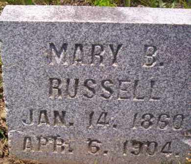 RUSSELL, MARY B. - Shelby County, Ohio | MARY B. RUSSELL - Ohio Gravestone Photos