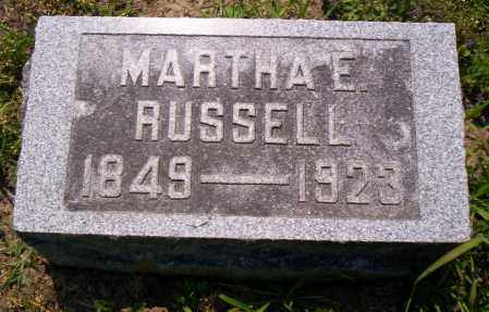 RUSSELL, MARTHA E. - Shelby County, Ohio | MARTHA E. RUSSELL - Ohio Gravestone Photos