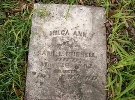 RUSSELL, MILCA ANN - Shelby County, Ohio | MILCA ANN RUSSELL - Ohio Gravestone Photos