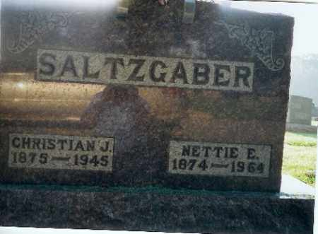 SALTZGABER, NETTIE - Shelby County, Ohio | NETTIE SALTZGABER - Ohio Gravestone Photos