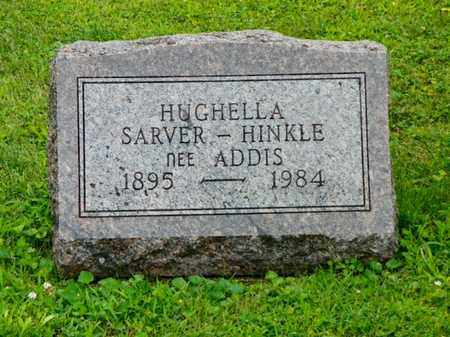 ADDIS SARVER-HINKLE, HUGHELLA - Shelby County, Ohio | HUGHELLA ADDIS SARVER-HINKLE - Ohio Gravestone Photos