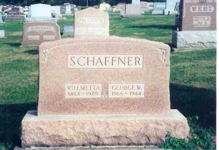 "SCHAFFNER, WILLMETTA ""EDITH"" - Shelby County, Ohio 
