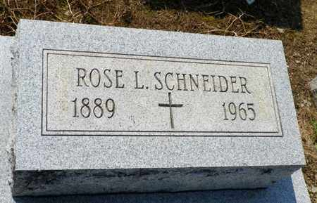 SCHNEIDER, ROSE L. - Shelby County, Ohio | ROSE L. SCHNEIDER - Ohio Gravestone Photos
