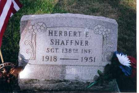 SHAFFNER, HERBERT E. - Shelby County, Ohio | HERBERT E. SHAFFNER - Ohio Gravestone Photos