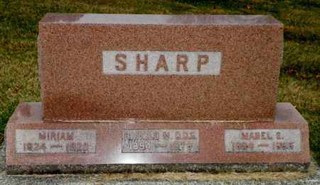SHARP, MIRIAM - Shelby County, Ohio | MIRIAM SHARP - Ohio Gravestone Photos