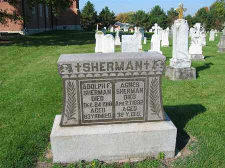 SHERMAN, AGNES - Shelby County, Ohio | AGNES SHERMAN - Ohio Gravestone Photos