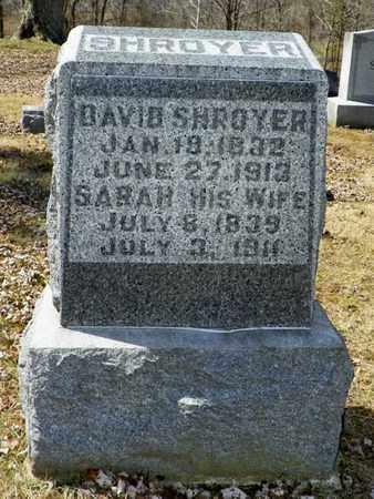 SHROYER, DAVID - Shelby County, Ohio | DAVID SHROYER - Ohio Gravestone Photos