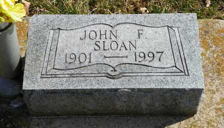 SLOAN, JOHN F. - Shelby County, Ohio | JOHN F. SLOAN - Ohio Gravestone Photos