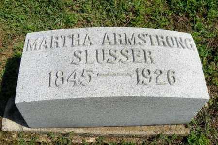 SLUSSER, MARTHA ARMSTRONG - Shelby County, Ohio | MARTHA ARMSTRONG SLUSSER - Ohio Gravestone Photos