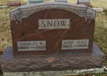 SNOW, MARY ALICE - Shelby County, Ohio | MARY ALICE SNOW - Ohio Gravestone Photos