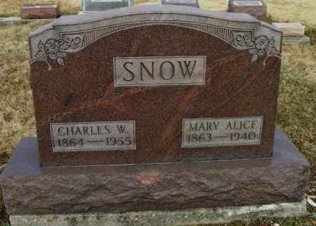 SNOW, CHARLES W. - Shelby County, Ohio | CHARLES W. SNOW - Ohio Gravestone Photos