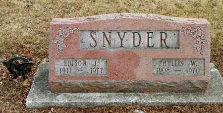 SNYDER, EDISON J. - Shelby County, Ohio | EDISON J. SNYDER - Ohio Gravestone Photos