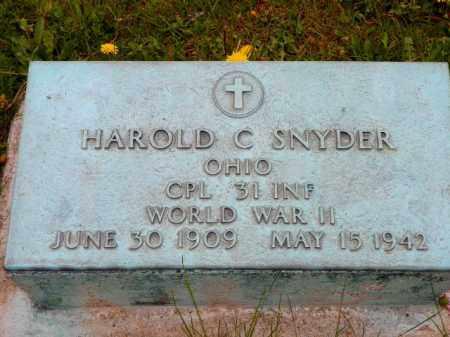 SNYDER, HAROLD C. - Shelby County, Ohio | HAROLD C. SNYDER - Ohio Gravestone Photos