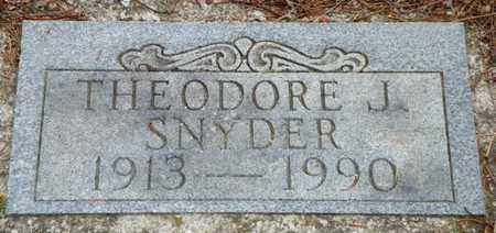 SNYDER, THEODORE J. - Shelby County, Ohio | THEODORE J. SNYDER - Ohio Gravestone Photos
